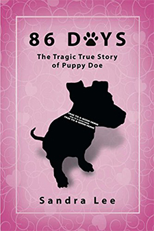 photo of book cover for 86 Days, the tragic true story of Puppy Doe by Sandra Lee